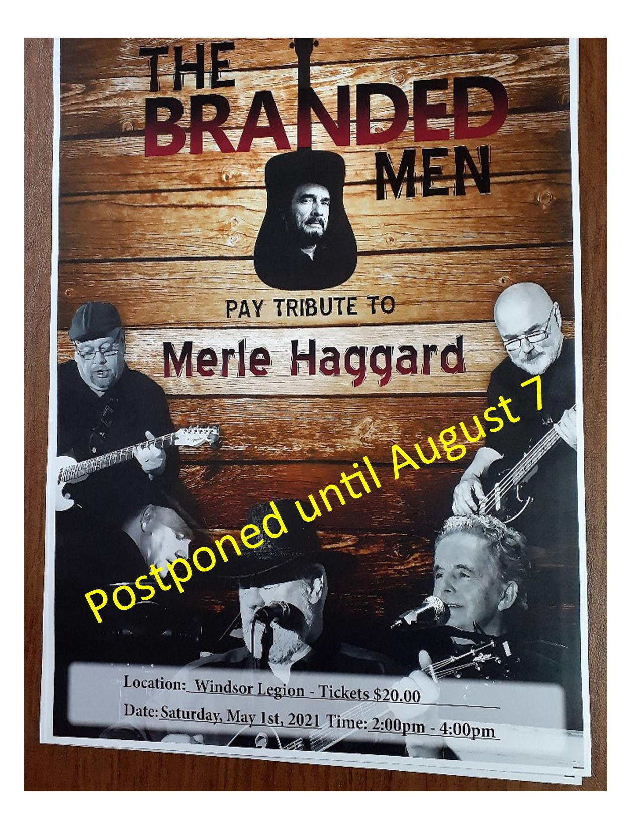 Merle Haggard Tribute postponed